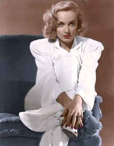 Carole Lombard - the colorized version of this picture. …