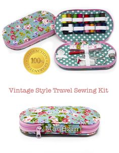 WOW! Madezin has just released a unique vintage style travel sewing kit on Amazon.