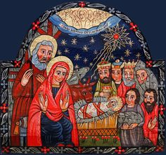 Christian Images, Nativity Scenes, Three Wise Men, Sacred Art, Epiphany, Winter Scenes, Religious Art, Advent, Folk Art