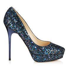 Cosmic - Jimmy Choos. Something blue, blue wedding shoe