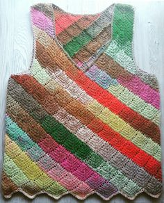 The Tunisian crocheted vest.