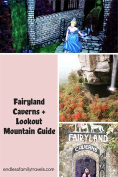 Visiting the Fairyland Caverns + your ultimate family guide of things to do at Lookout Mountain, GA / TN. Ruby Falls, Rock City, See Seven States and more! #FairytaleCaverns #LookoutMountain #roadtrip Best Family Vacation Spots, Family Travel, Underground Caves, High Falls, Lookout Mountain, Fairy Land, Nursery Rhymes, Taking Pictures, Things To Do