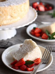 Angel Food Cake | completelydelicious.com