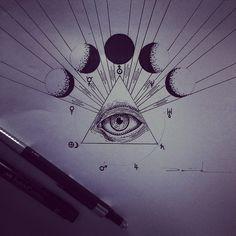 "@thewhovo's photo: ""Don't think it is illuminati ☝️ #ink #tattoo #sketch…"