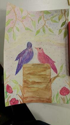 Soyut kuş çizim
