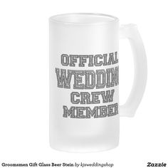Groomsmen Gift Glass Beer Stein 16 Oz Frosted Glass Beer Mug