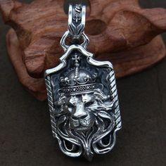 9126a58871f3 925 Sterling Silver Pendant dimensional lion head male and female Wenwan  flamboyant type pendant. Anillo De CaballerosCadenas De PlataJoyería ...