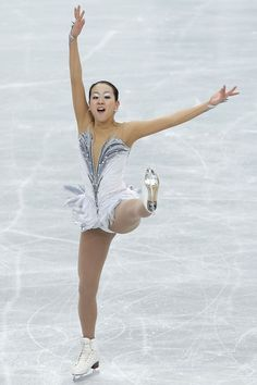 RIFU, JAPAN - NOVEMBER 24:  Mao Asada of Japan competes in the Ladies Free Skating during day two of the ISU Grand Prix of Figure Skating NHK Trophy at Sekisui Heim Super Arena on November 24, 2012 in Rifu, Japan.