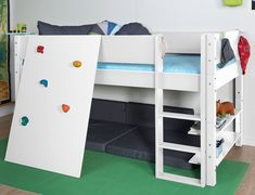 Etagenbett Steens For Kids : Steens for kids hochbett mit rolllattenrost und gerader leiter