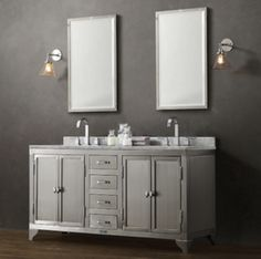 """Today's bathroom vanities can make a bold statement in any bathroom, and here are twelve examples we found to be """"decorator-worthy."""""""