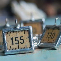 charms made from a vintage ruler...  for your bracelets, necklaces...   JEWELRY or in any way you would want it to CHARM lot POVT. $5.50, via Etsy.