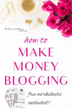 Blogging has proven to be a viable business opportunity over the years. It offers optimum flexibility in scheduling and the creative freedom so many of us seek. But, creating a full-time income from blogging doesn't come easy. Click through to learn how to make money blogging and download the free blog success worksheets.