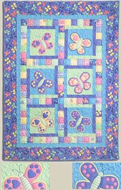 BUTTERFLY QUILT love the top section :)