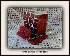 Porta cartão e canetas em mosaico ref: pcm 048. R$35.00