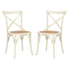 Target furniture kitchen & dining furniture dining chairs & benches      $199.99Safavieh Franklin Cross Back Chair - Antique White (Set of 2)