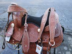 #saddle #western #barrel #pleasure #trail #cowboy #cowgirl #tooled #floral #basket #brown #black #horses #equine #equestrian #western #saddles #horses #barrelsaddles #barrelracing #barrelsaddleforsale #trailsaddles #traisladdleforsale #westernsaddles #westernsaddleforsale #pony #kids #child #youth #mini Barrel Saddles For Sale, Western Saddles For Sale, Western Horse Saddles, Pony Saddle, Cute Ponies, Black Horses, Headstall, Barrel Racing, Black Suede