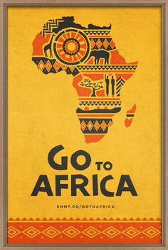 "Go to Africa by Evan Travelstead, via Behance (Patrick Downing movie poster design elements"" Africa Art, Out Of Africa, Travel Couple Quotes, Poster Design, Graphic Design, Poster S, Poster City, Thinking Day, Africa Travel"