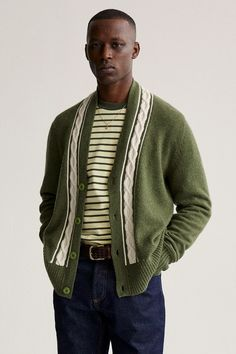 Fall / Winter 2020. The World's Borough. – Aimé Leon Dore Mulberry Logo, Aime Leon Dore, Mens Trends, Tweed Jacket, Stylish Men, Men Casual, Sport Coat, Look Cool, Men Sweater