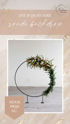 Maak van je bruiloft een statement met deze toffe ronde backdrop. Eenvoudig te demonteren en in elkaar te zetten. Klik op de afbeelding voor meer informatie.