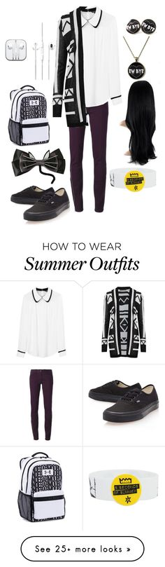"""""""Normal school outfit☄✨"""" by wheresthefunnnnnn on Polyvore featuring UNCONDITIONAL, Tara Jarmon, Vans, M&S Collection and Under Armour"""