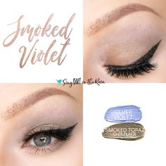 Smoked Violet Eye Cuo uses two SeneGence ShadowSense : silver violet