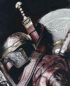 sword, helmet and shield