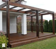 Would you like to have a beautiful pergola built in your backyard? You may have a lot of extra space available for something like this, but you'll need to focus on checking out different pergola plans before you have anything installed. Pergola Attached To House, Deck With Pergola, Cheap Pergola, Outdoor Pergola, Patio Roof, Pergola Plans, Diy Pergola, Pergola Kits, Pergola Lighting