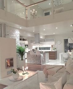 Try To Decorating With Luxury White Living Room Design 01 - Home Decor Design House Design, House, Interior, Home, Bedroom Design, House Rooms, House Styles, House Inspiration, House Interior