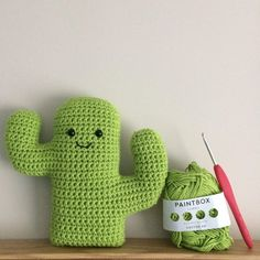 This is a pattern to make a fun crochet amigurumi cactus.A huggable cactus friend for children and adults.Inspired by my love of cacti and succulents.Made from DK cotton yarn with an embroidered mouth and safety eyes. Crochet Puff Flower, Crochet Cactus, Crochet Flower Patterns, Crochet Designs, Crochet Flowers, Unique Crochet, Cute Crochet, Crochet For Kids, Crochet Toys