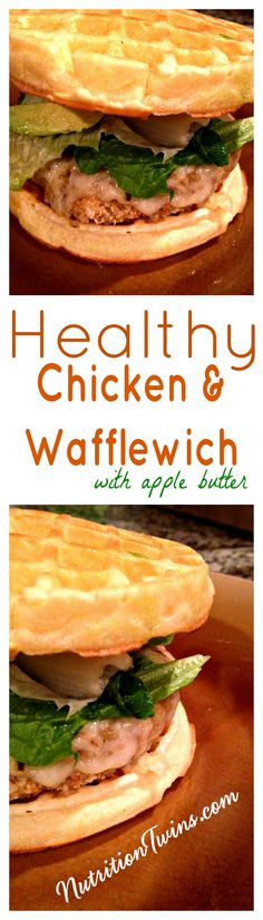 Healthy Chicken & Wafflewich | Only 375 Calories | Sweet & Crispy | Lightened Up Southern Comfort Food | For MORE RECIPES, Nutrition & Fitness Tips please SIGN UP for our FREE NEWSLETTER www.NutritionTwins.com