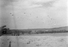 Fallschirmjager, paratroopers, dropping onto Crete.