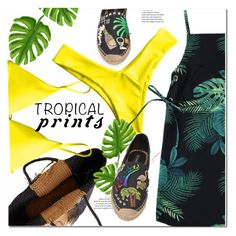 """""""Tropical prints"""" by fshionme ❤ liked on Polyvore featuring Marc Jacobs, Sensi Studio, Summer and tropicalprint"""