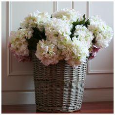 Hortensia Blanc Artificiel Décoration