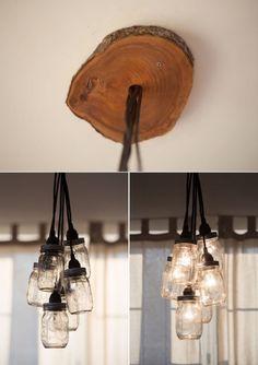 DIY Mason Jar Chandelier   A chandelier out of mason jars? Sure! #DiyReady www.diyready.com