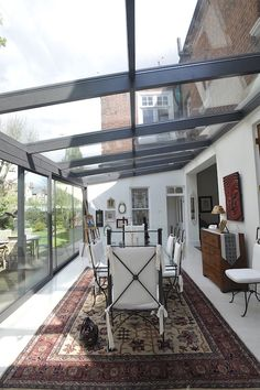 A Glass Room from Lanai Outdoor is an effective space solution without the expense or hassle of extending your home. Extension Veranda, House Extension Plans, House Extension Design, Glass Extension, House Design, Orangery Extension Kitchen, Conservatory Design, Terrace Design, Garden Room Extensions