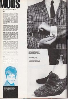 I-D magazine...or The Face... Essential items for a mod