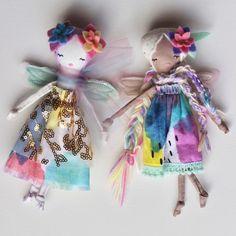 Handmade Dolls - Mini Rainbow Fairies by Liberty Lavender Dolls