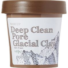 This deep cleansing, purifying clay mask is formulated with a unique blend of Canadian glacial water, glacial clay and green tea extracts. After just one use of Goodal's Washup Deep Clean Pore Glacial Clay Mask, skin is refreshed, pores appear minimized and texture is visibly refined.