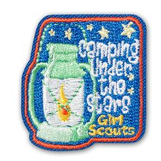 CAMPING UNDER THE STARS IRON-ON PATCH $2.00