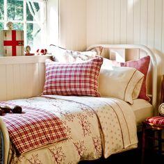 vintage red bed . . .