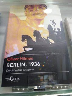 """""""Berlin, 1936"""" d' Oliver Hilmes. Tusquets"""