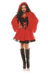 Mysterious Little Red Adult Womens Costume - 355866 | trendyhalloween.com #womenscostumes