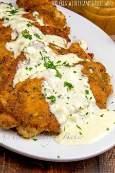 A dinner for garlic lovers! Succulent chicken topped off with a creamy garlic and Parmesan sauce.