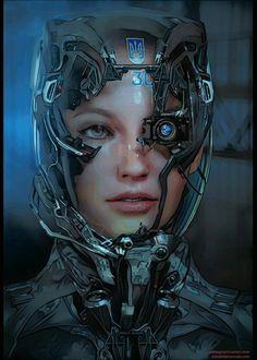 Cyberpunk Rpg, Cyberpunk Girl, Cyberpunk Aesthetic, Cyborg Eye, Female Cyborg, Cyborg Girl, Arte Robot, Robot Girl, Futuristic Art