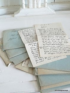Old letters and telegrams