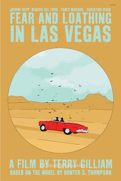Fear and Loathing in Las Vegas (1998) - Minimal Movie Poster by Claudia Varosio