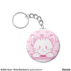 Bubble Gum - Kitty Keychain