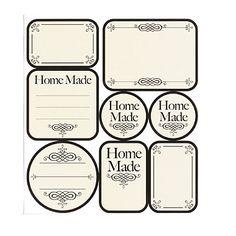 Geef op deze mooie labels aan wat je gemaakt hebt in je Kilner pot.