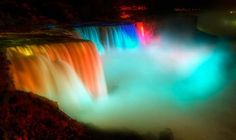 Niagara falss in the night