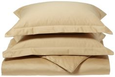 Luxury Manor Collection 800Thread Count Solid Cotton FullQueen Duvet Set Gold ** For more information, visit image link.